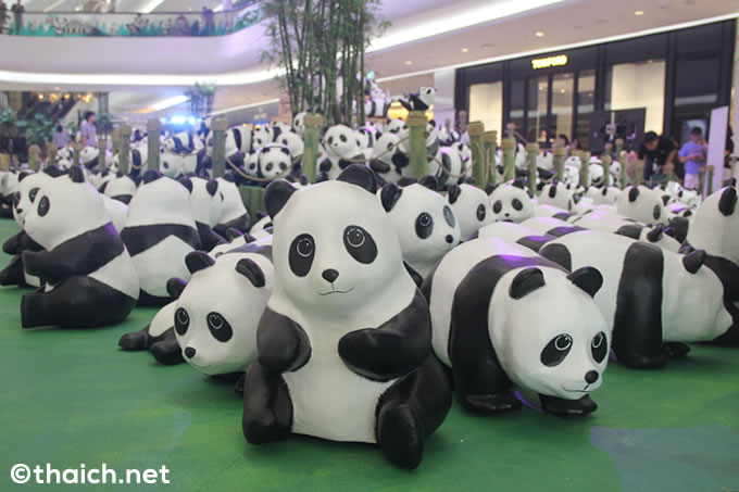 張り子パンダの大群をバンコク・セントラルエンバシーで無料展示[1600 Pandas+ World Tour in Thailand]