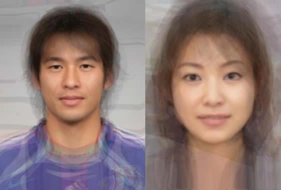タイ人の平均はこんな顔、日本人の平均はこんな顔