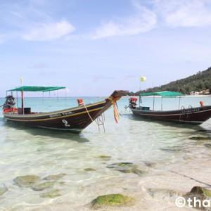 静かで透明度の高いチャロクルムビーチ【パンガン島】