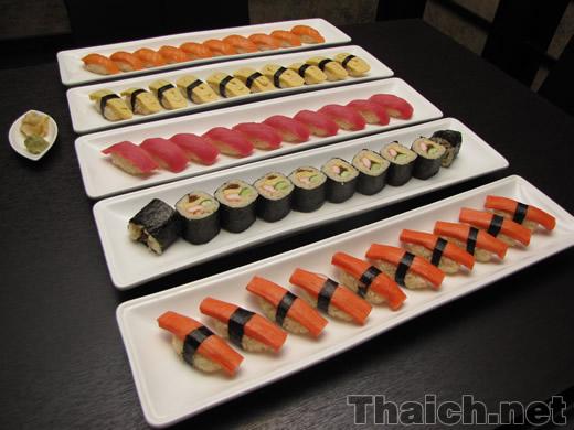 大迫力の寿司50貫!