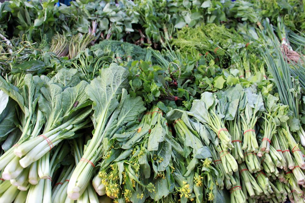 市場で売られるタイ野菜