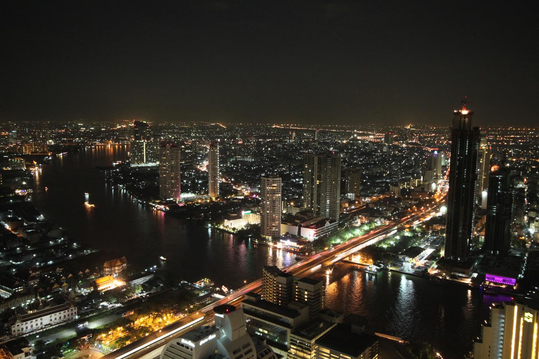 バンコクの夜景 シロッコからの眺め