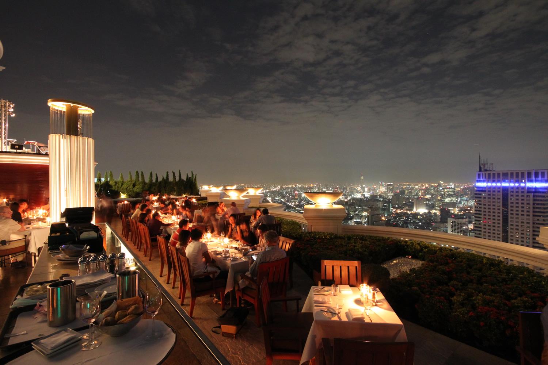 バンコクの夜景 シロッコからの眺め2