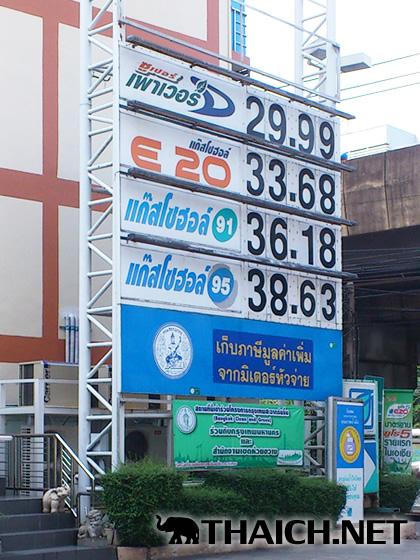 タイのガソリンスタンドの91や95は何のことですか?