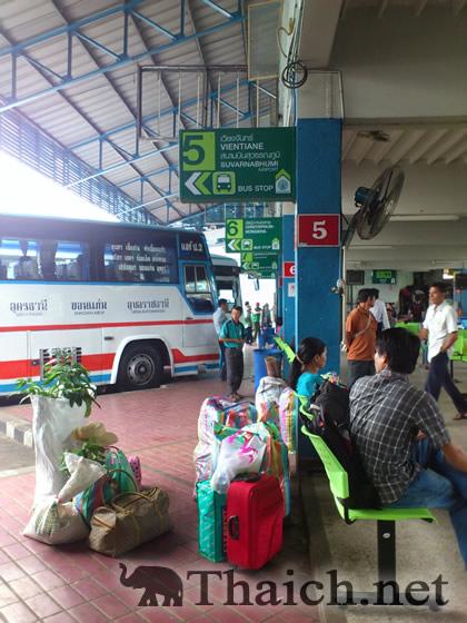 ビエンチャン行き国際バス