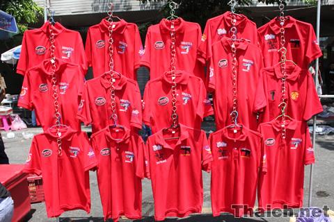 ラチャプラソン交差点の赤服デモ 2010年4月7日
