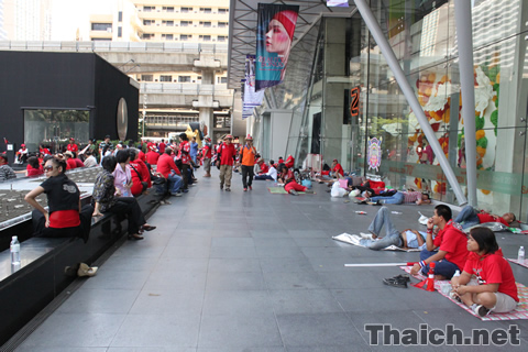 ラチャプラソン交差点の赤服デモ 2010年4月8日