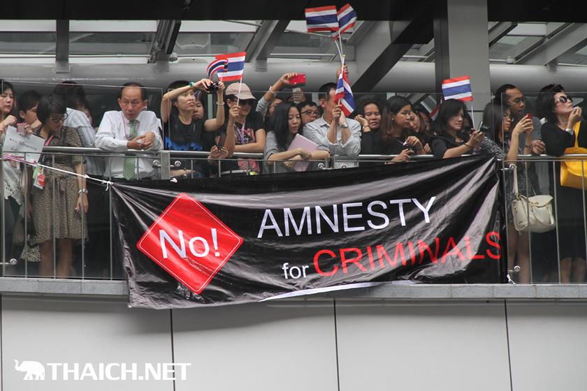タクシン元首相の恩赦法案反対デモ@アソーク 2013年11月7日