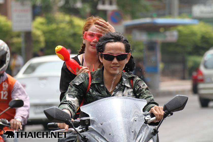 2014年ソンクラーン(タイ正月・水かけ祭り)の様子