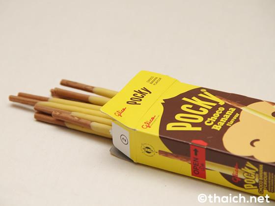 タイのポッキー・チョコバナナ味のパッケージがかわいい
