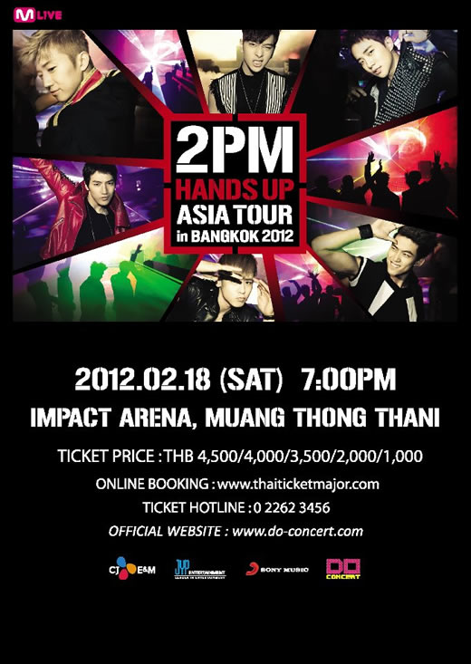 2PM Hands Up Asia Tour 2012 in Bangkok