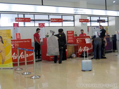 ウドンタニ国際空港 チェックインカウンター