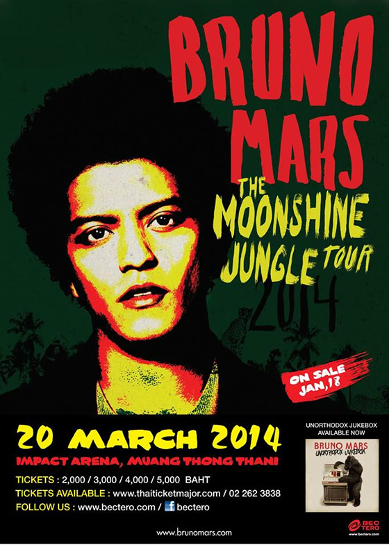 BRUNO MARS THE MOONSHINE JUNGLE TOUR 2014 IN BANGKOK