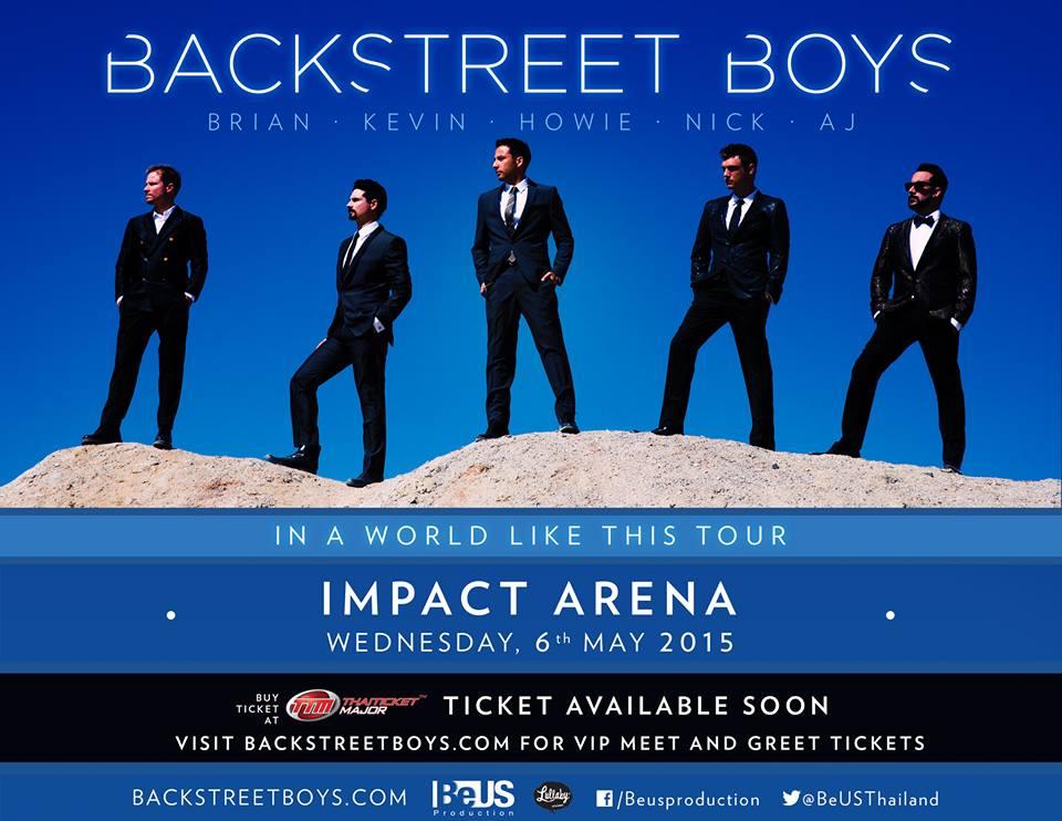 バックストリート・ボーイズ「Backstreet Boys In A World Like This Tour」タイ・バンコク公演がインパクトアリーナで2015年5月6日開催