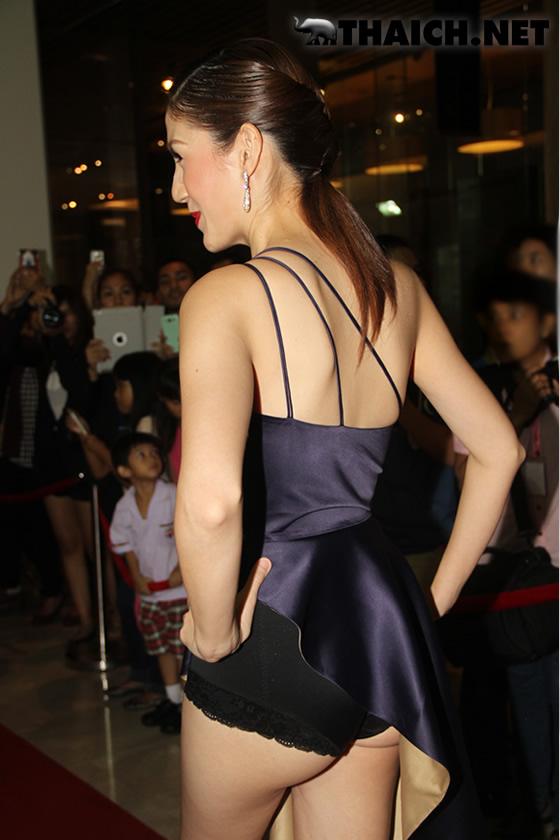 タイ人お騒がせ女優ジェミー・ブーハーのノーパン下腹部が激写された!