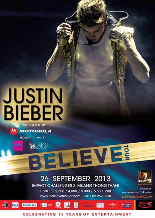 ジャスティン・ビーバーのタイ・バンコク公演「Believe Tour 2013 in Bangkok」が2013年9月26日開催