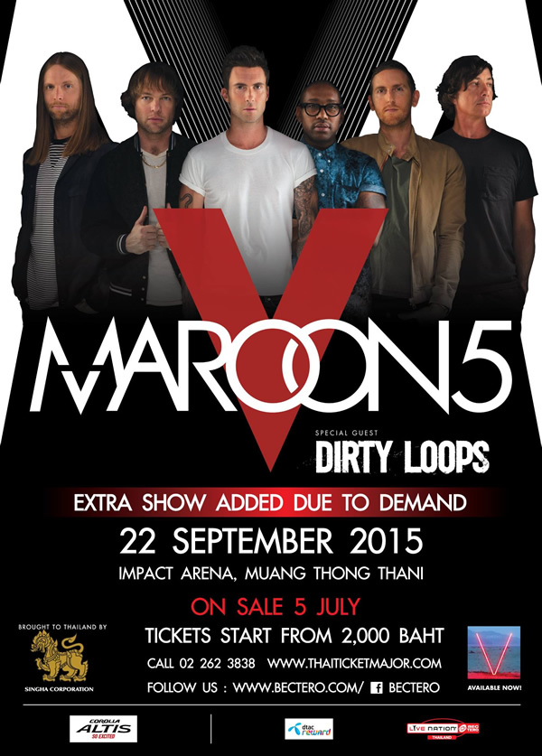 Singha Corporation Presents MAROON 5 WORLD TOUR 2015 Live in Bangkok