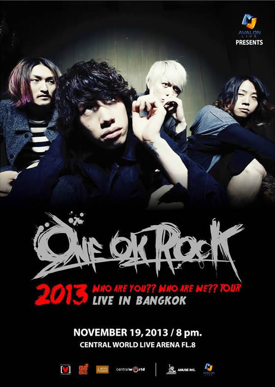 ONE OK ROCK 2013 Who are you?? Who are we?? TOUR LIVE IN BANGKOK