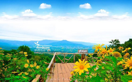 タイ・ルーイ県にある富士山そっくりの山「プーパーポ」