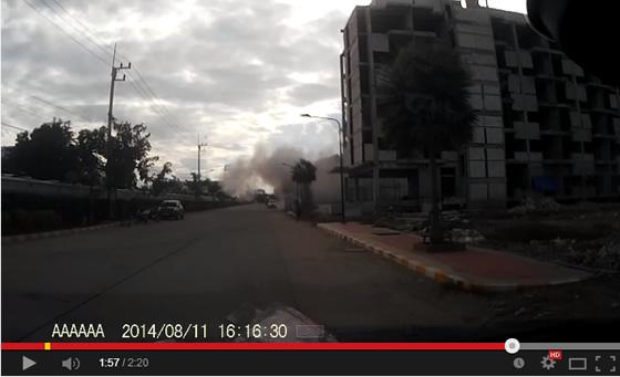 バンコク近郊で建設中のビルが崩壊した瞬間の動画が拡散