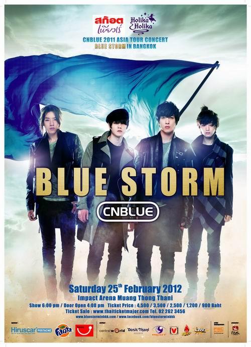 Cnblue 2011 Asia Tour concert 'Bluestorm' in Bangkok