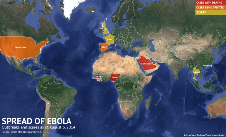 WHOがタイはエボラ出血熱の感染者がいる恐れありと分類