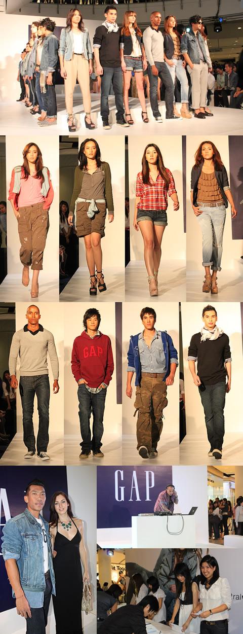 GAPグランドオープニングファッションショー