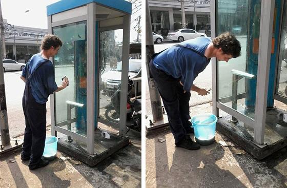街を清掃する謎のドイツ人男性がウドンタニで発見される