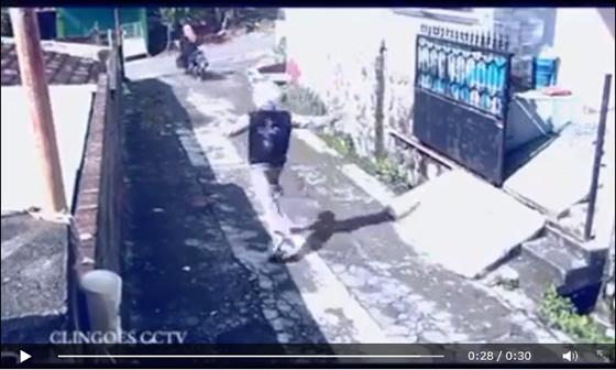 大爆笑動画!バッグひったくり犯人の意外な結末