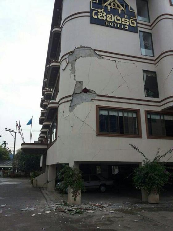 タイ・チェンライでマグニチュード6の地震!ネットには続々と被害状況の画像がアップ!