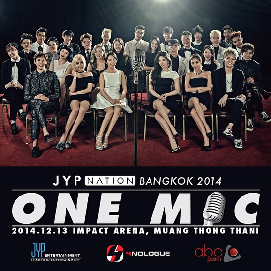K-POPコンサート「JYP NATION in BANGKOK 2014 <ONE MIC>」がインパクトアリーナ・ムアントンタニで2014年12月13日開催