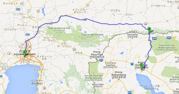 バンコク-シーサケート-シェムリアップ(カンボジア)を繋ぐバスが運行へ