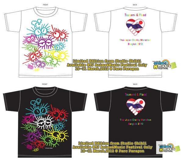 宮崎駿デザインの東日本大震災&タイ大洪水チャリティTシャツの予約開始