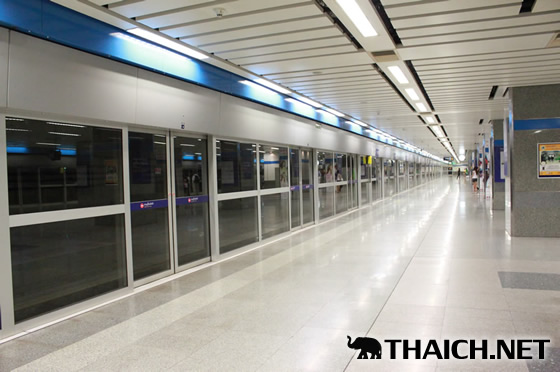 2014年ソンクラーン期間中、地下鉄MRTは60歳以上で乗車無料