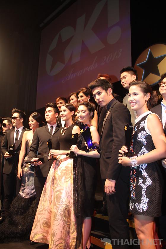 ナデート・クギミヤ、ヤーヤー・ウッラサヤー、ヤーヤーインらが「OK! AWARDS 2013」で受賞