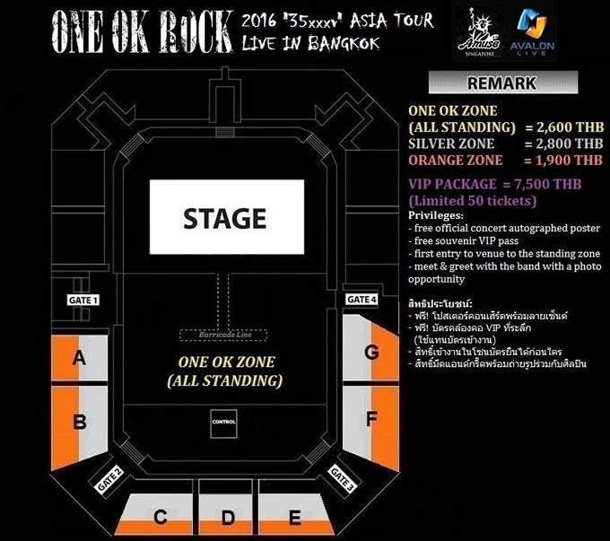 "ONE OK ROCK 2度目のタイ・バンコク公演決定!「ONE OK ROCK 2016 ""35xxxv"" ASIA TOUR」"