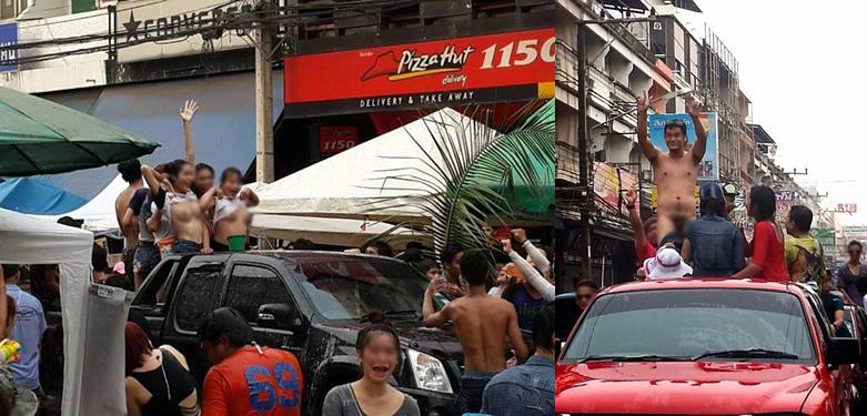 タイ正月にオッパイを丸出しのニューハーフが謝罪と罰金【ネットの話題】