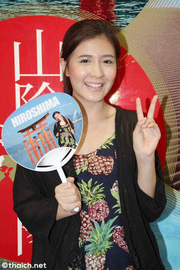女優フォーカス・ジラクンがテレビ新広島制作「Japan in Motion」に出演で広島レポート