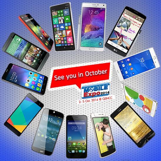 タイランドモバイルエキスポ2014が10月2日~5日開催
