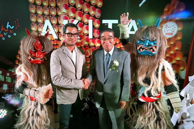 タイ人俳優ウー・タナーコーンが秋田観光大使に就任