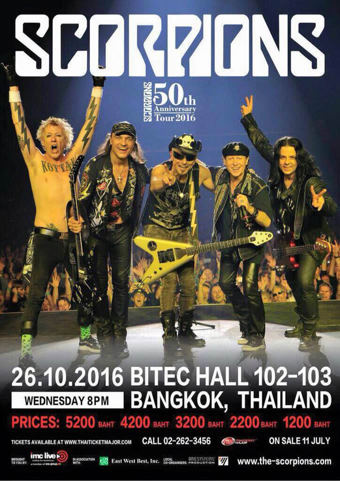 Scorpions 50th Anniversary Tour Live in Bangkok