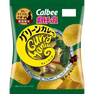 calbee green curry potechi
