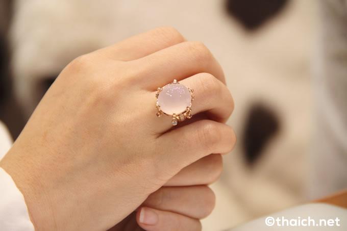 Daydream ring with Rose Quartz