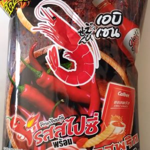 Prawn Crackers Spicy Flavoured with Chili Sause