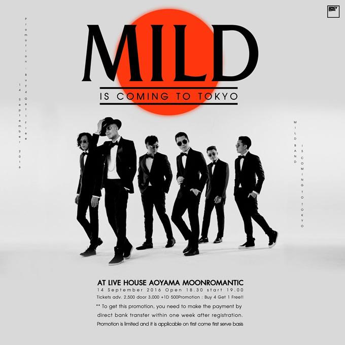 MILD東京公演「MILD Live in TOKYO 2016」が青山・月見ル君想フで2016年9月14日開催