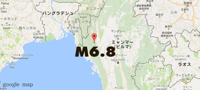 myanmar M6.8