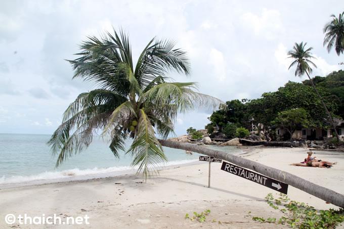 プールの前に広がるほぼプライベートビーチ