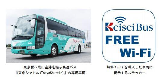 京成バス、6ヶ国語に対応した高速バスの無料Wi-Fiサービスを開始