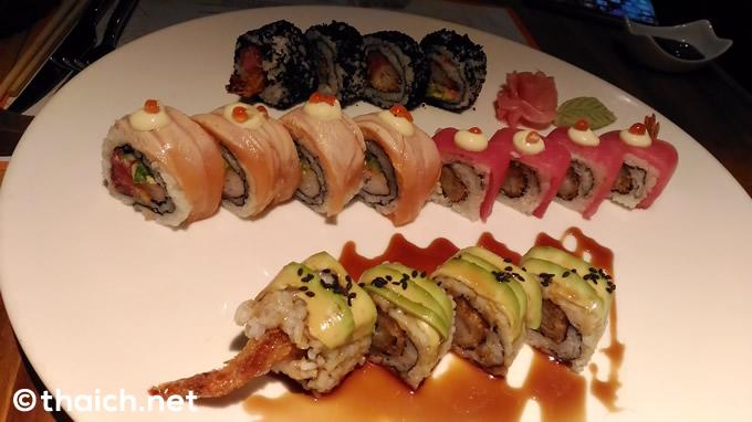 日本のものとはちょっと雰囲気の違うお寿司