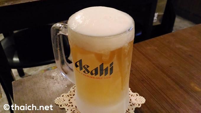 「アサヒ生ビール」(89バーツ)